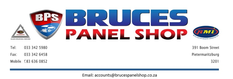 Logo of Bruce's Panel shop