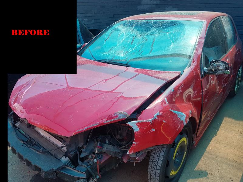 Golf V GTi Accident Repairs BEFORE