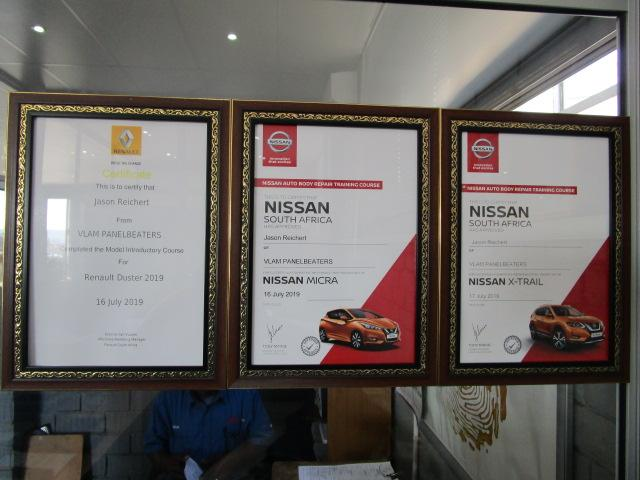 Nissan Training Certificates